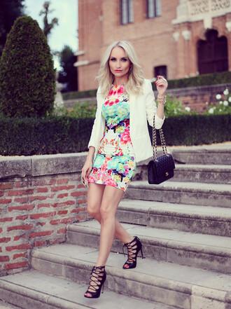 hat romwe dress floral romwe dress