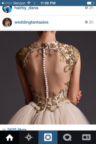 white dress backless dress gold sequins