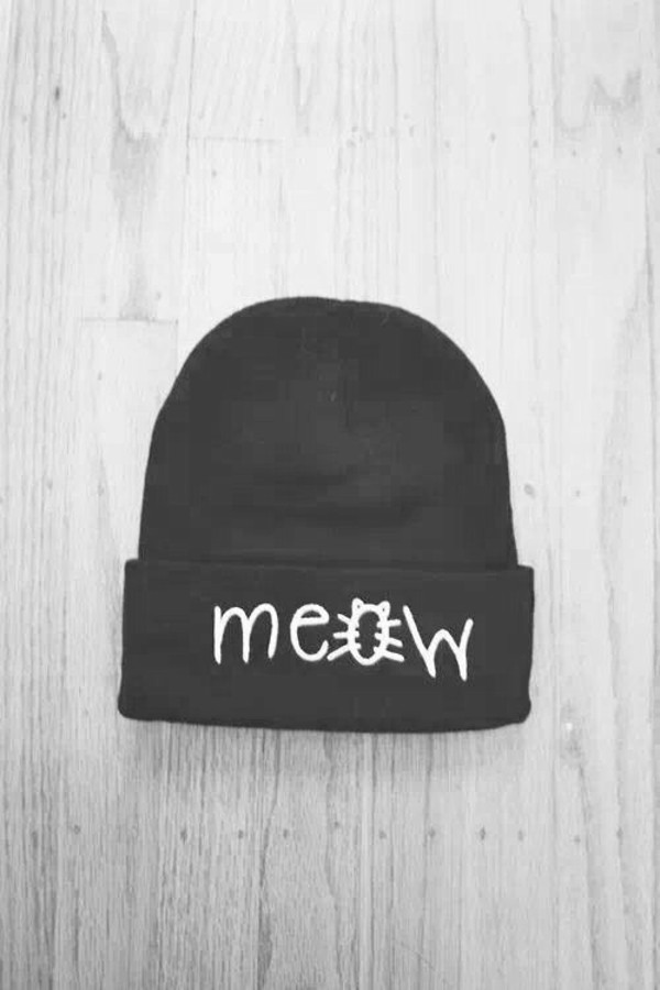 hat beanie beanie black fashion