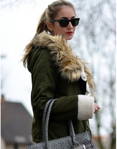 Hooded drawstring coat jacket