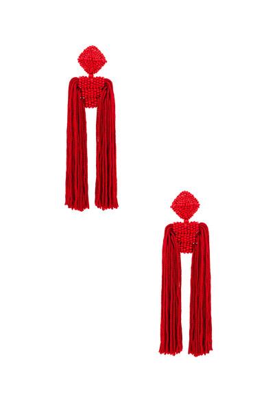 Sachin & Babi Tassel Dupio Earrings in red