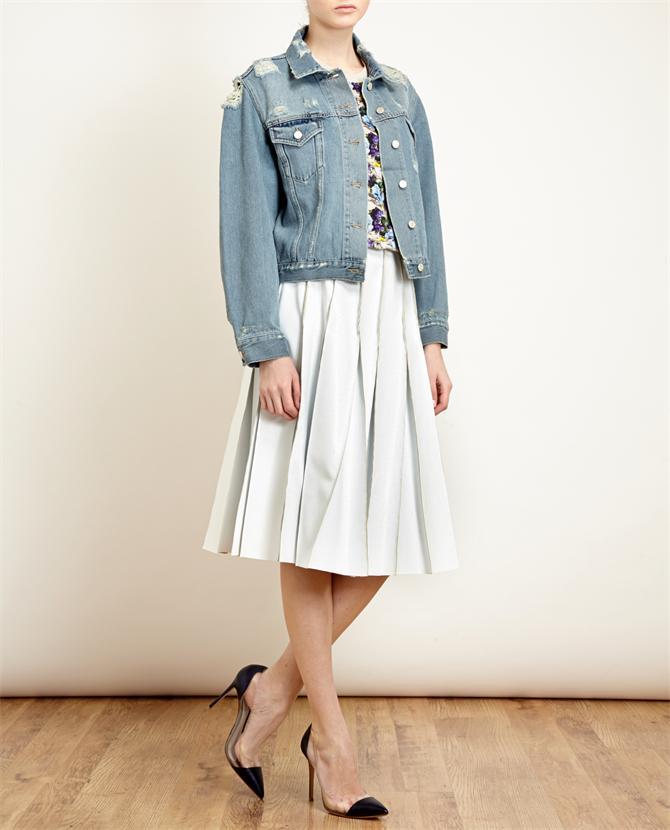 ACNE | Acne Tram Trashed Denim Jacket | Browns fashion & designer clothes & clothing