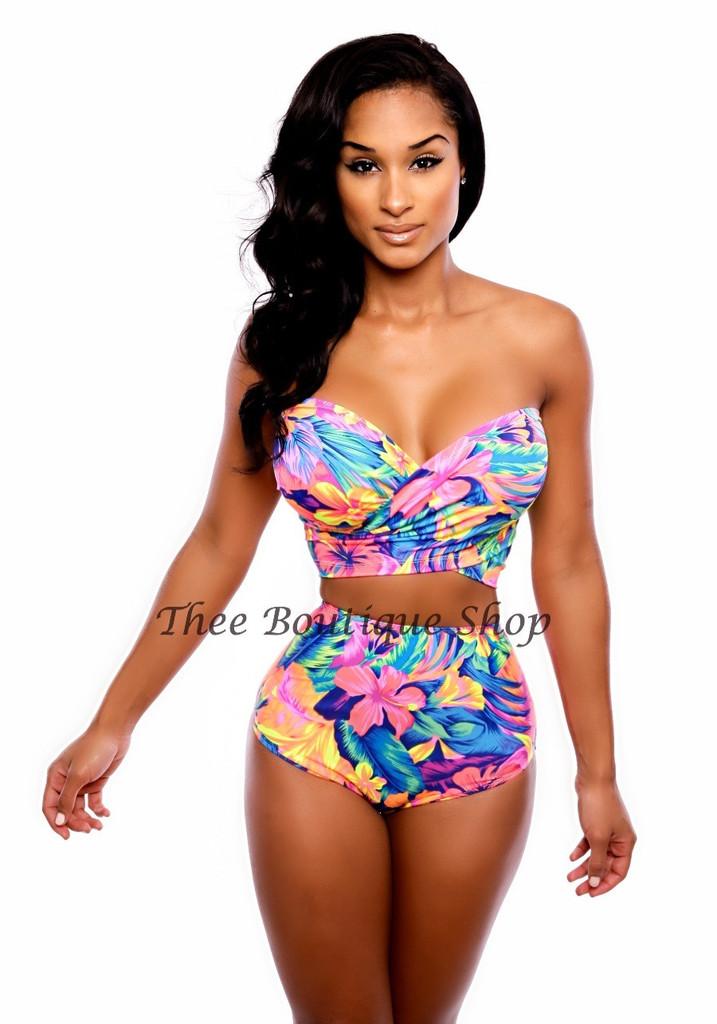 The hawaiian wrap swimsuit
