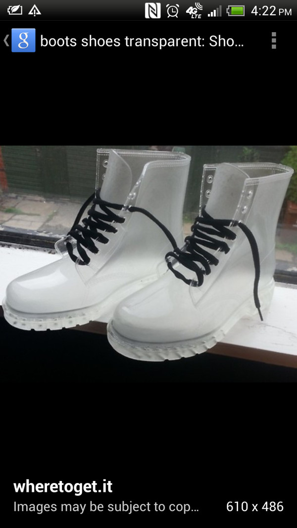 shoes tranparent clear boots