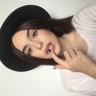 jewels acaciabrinley grunge septum piercing piercing hat