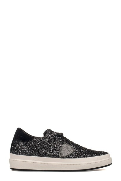 Philippe Model glitter sneakers black shoes