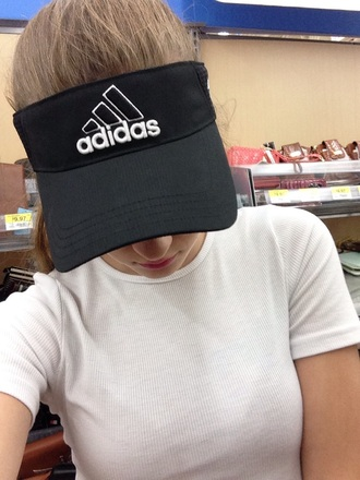 hat adidas visor tumblr grunge dark pale pale grunge 90s style vaporwave kawaii seapunk