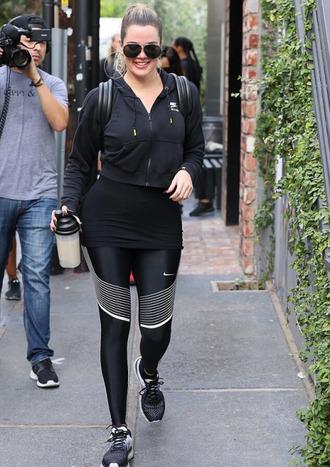 leggings khloe kardashian kardashians sneakers jacket streetstyle keeping up with the kardashians