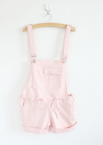 overalls pastel girly pastel pink