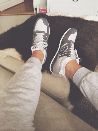 shoes grey and white trainers new balance