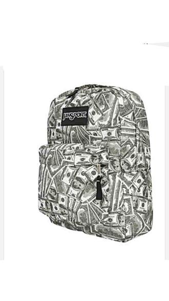 bag money backpack jansport
