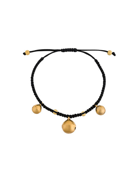 Ileana Makri beaded bracelet women beaded cotton black jewels