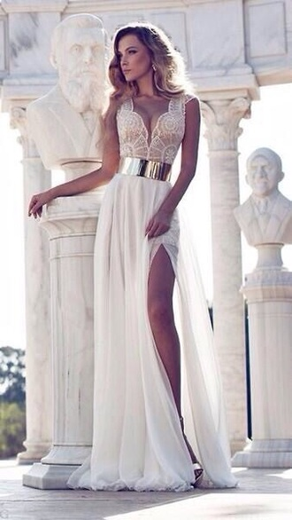 dress white white prom dress prom prom dress prom gown gown