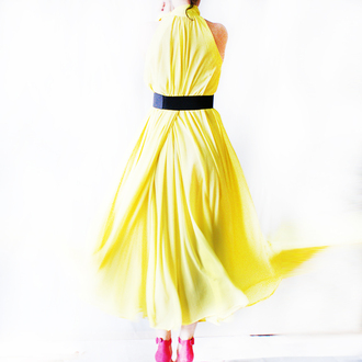 dress yellow yellow dress maxi dress maxi summer dress summer pin up pin up dress old fashion oversized long dress