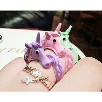 jewels unicorn ring