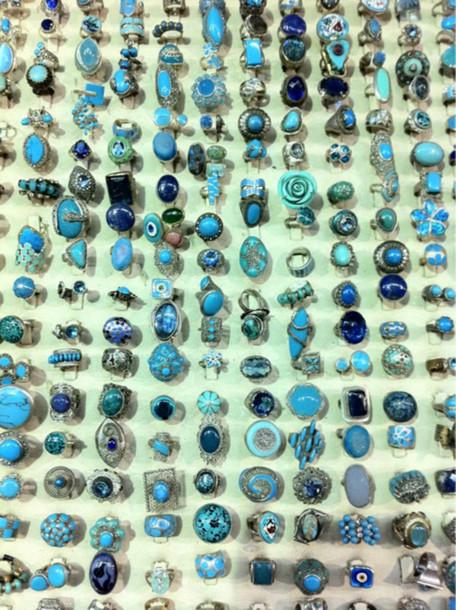 jewels ring turquoise blue cute pretty beautiful blue wedding accessory jewelry boho bohemian boho jewelry ring gypsy