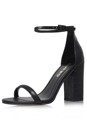 **Black High Heel Sandals by Miss KG - Heels - Shoes - Topshop
