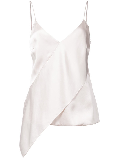 Cushnie Et Ochs - asymmetric slip top - women - Silk/Spandex/Elastane - 2, Pink/Purple, Silk/Spandex/Elastane