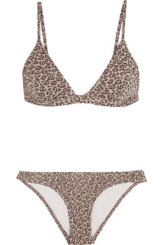 bikini triangle bikini triangle metallic print leopard print swimwear