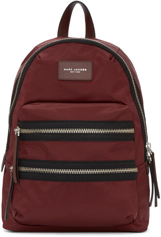 backpack burgundy bag