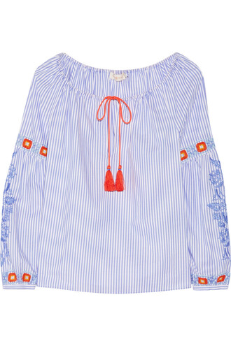 tunic embroidered cotton top
