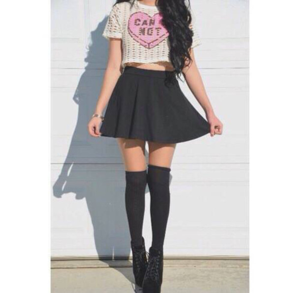 top where can i find this crop top skirt