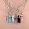 Aliexpress.com : buy women crystal necklace multicolor wisdom natural stone necklace 7 chakra amethyst of life quartz chips pendant necklace hot from reliable necklace acrylic suppliers on vinky's little world | alibaba group