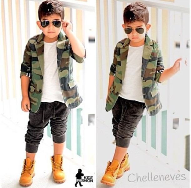 Pants Guys Toddler Kids Fashion Joggers Camouflage