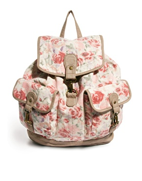 New Look | New Look Pearl Vintage Rose Backpack at ASOS