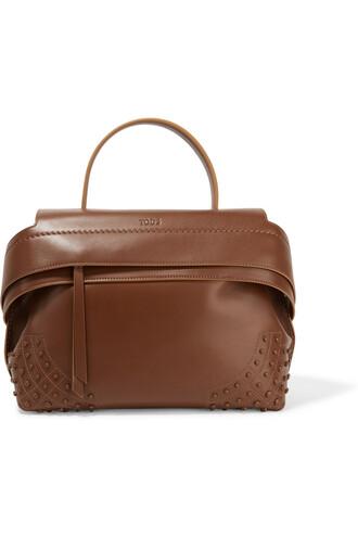 leather dark brown bag