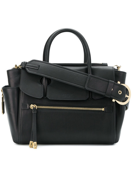 Salvatore Ferragamo - large top handle tote - women - Calf Leather - One Size, Black, Calf Leather
