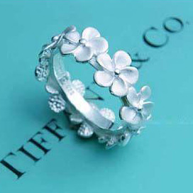 Tiffany plum blossom ring