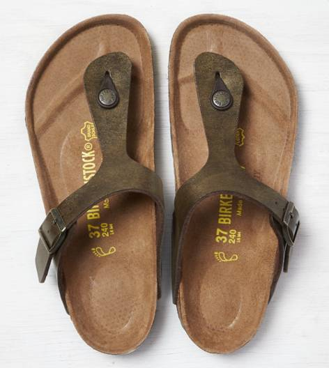 Birkenstock Gizeh Habana Sandal, Brown | American Eagle Outfitters