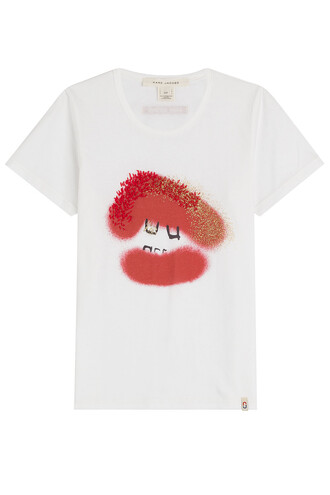 t-shirt shirt printed t-shirt white top