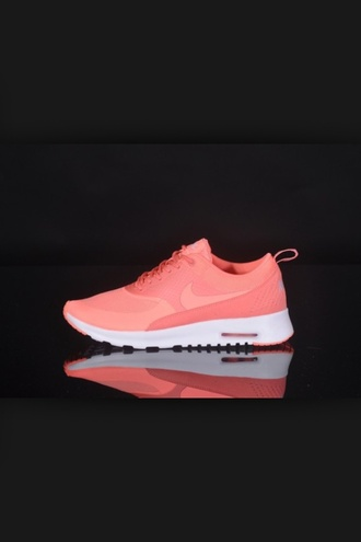shoes pink nike theas nike shoes nike theas nike running shoes nike shoes womens roshe runs coral sneakers nike air max neon pink