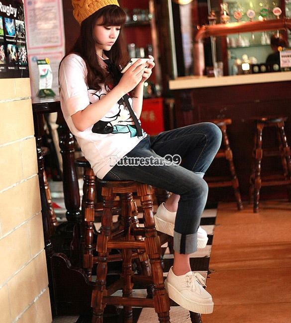 Damen Schnürschuhe Flach Stiefel Flache hohe Plattform Schuhe Gelegenheitsspiele | eBay