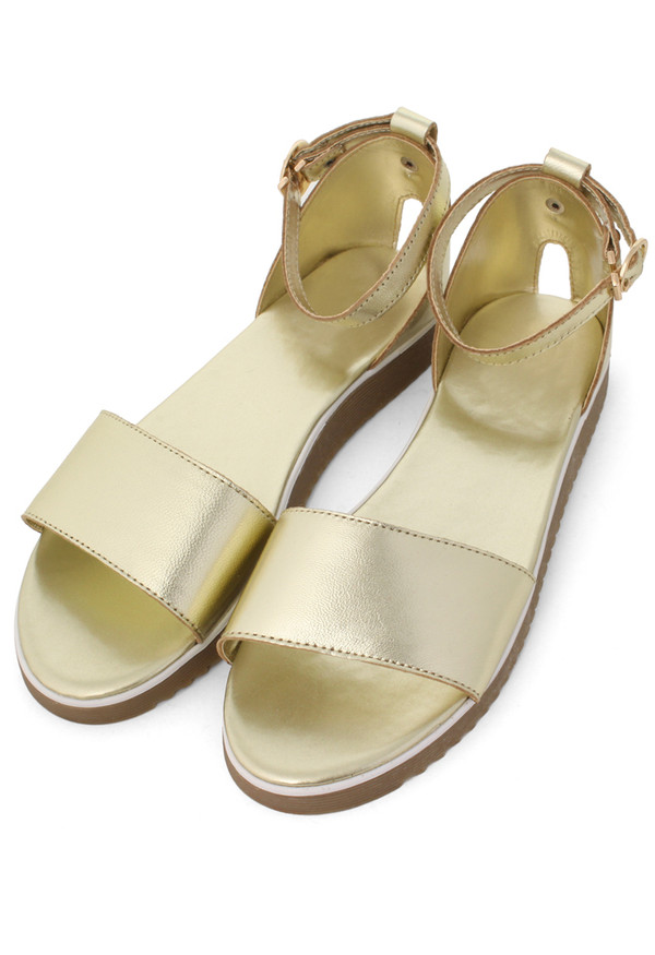 shoes refreshing new rome gold sandals