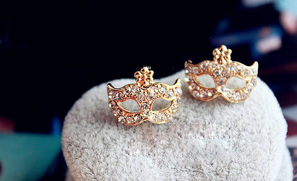 mask jewels earrings earrings set rose gold rose gold jewelry