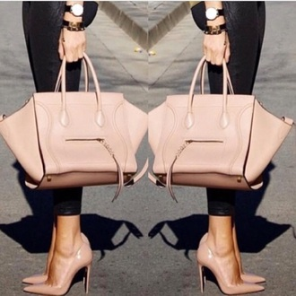 bag nude beige blush celine summer spring trendy beautiful