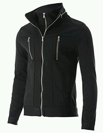 jacket black zip