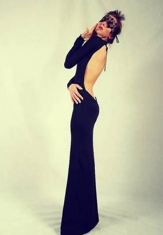 dress black dress black maxi dress open back