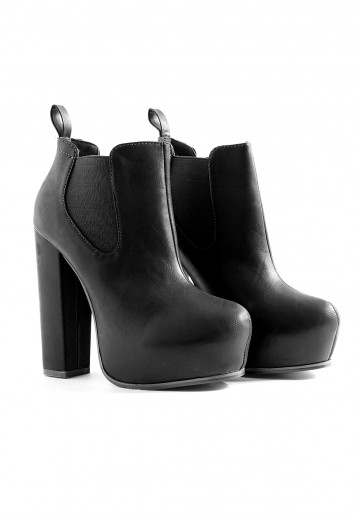 Platform Ankle Boots In Black - boots - missguided