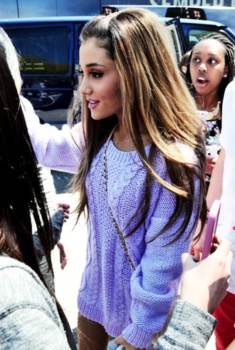 sweater purple ariana grande vintage