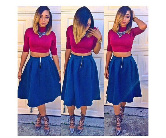shoes top skirt style fashion