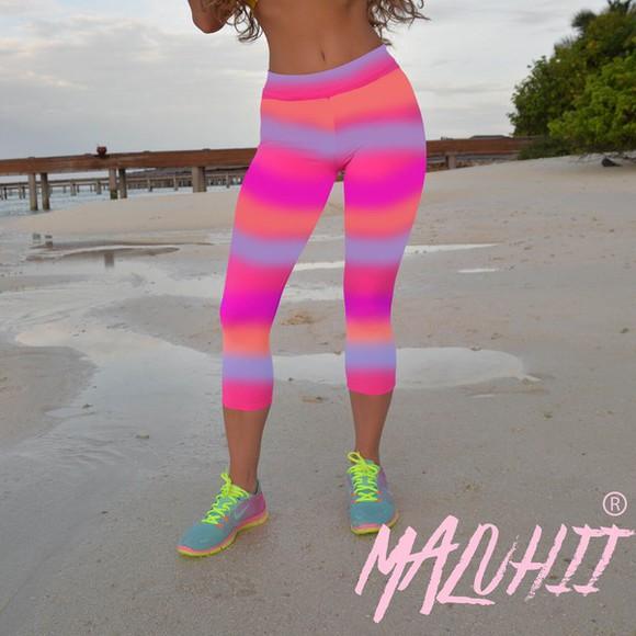 pants printed pants cute yellow leggings colourful capris yoga neon maluhii boho nike pro adidas originals fitness exercise yoga pants sportswear tribal pattern