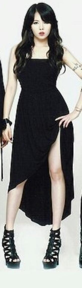 korean fashion korean style little black dress body-con dress korea london high heels