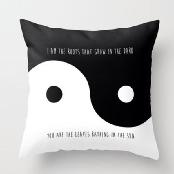 pillow home decor home decor tumblr bedroom valentines day gift idea quote on it pillow love quotes home accessory yin yang
