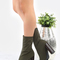 Pointed toe high shaft ankle boots olive -shein(sheinside)