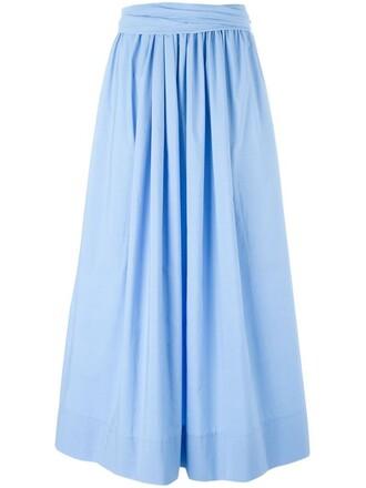 skirt maxi skirt maxi pleated blue