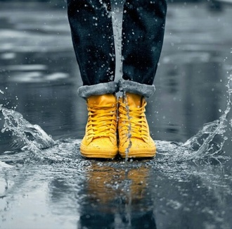shoes yellow rainy yellow boots